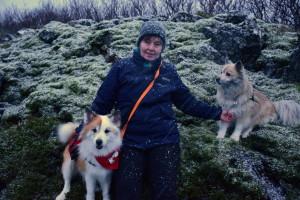 Skuggi og Brynhildur í Heiðmörk 1. feb 2017 035