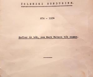 Lýsing á íslenska fjárhundinum frá 1956
