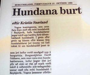 Mbl: Áróður gegn hundahaldi 1988